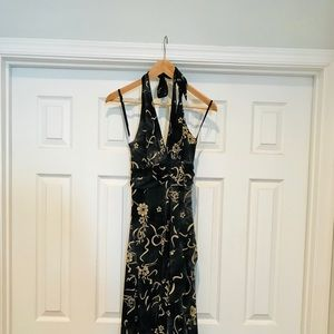 Black and Tan Cocktail Dress